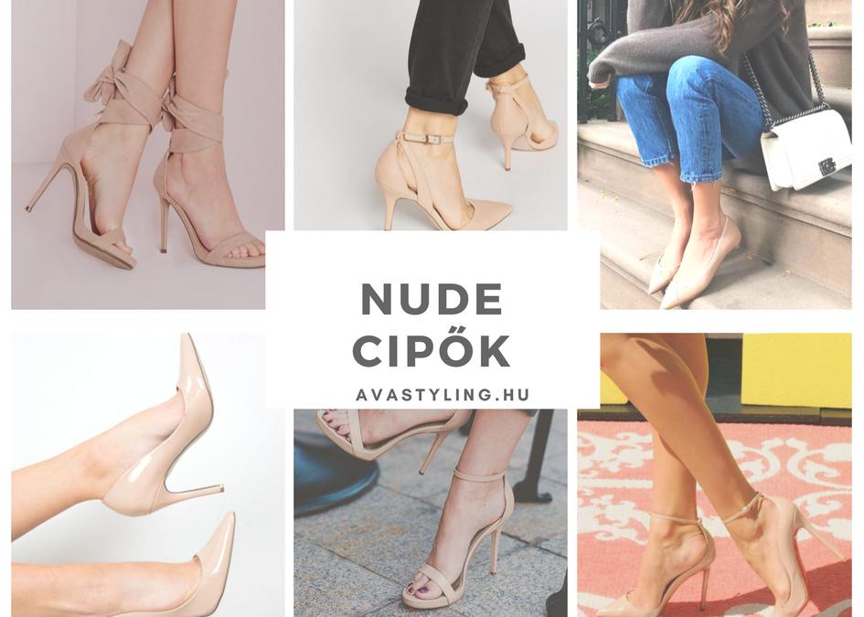 Nude, azaz testszínű cipő
